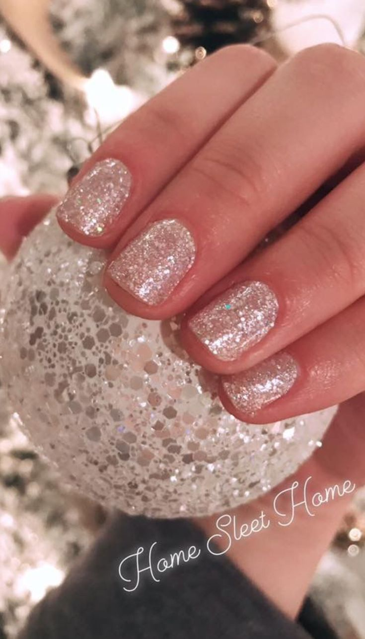 Color Street Glitter Home Sleet Home is the perfect white ...