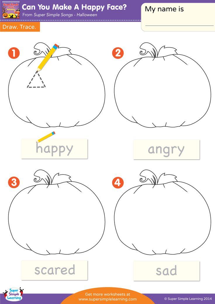 Sad Face Worksheet : Happy sad preschool worksheet best free printable