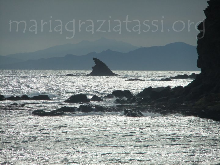 Italy, Tuscany, Punta Ala, Elba Island, sea sunset.