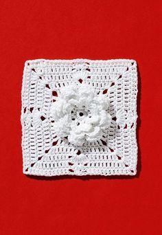 Blütengranny - Granny Square: Häkeln im Quadrat - Diese wunderschöne große Blüte ist arbeitsintensiv, sieht aber phantastisch aus. Eine Zierde für Kissen, Decken, Handschuhe, Schals oder Grußkarten...