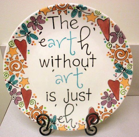 Best 25 paint your own pottery ideas on pinterest for How to decorate a ceramic plate