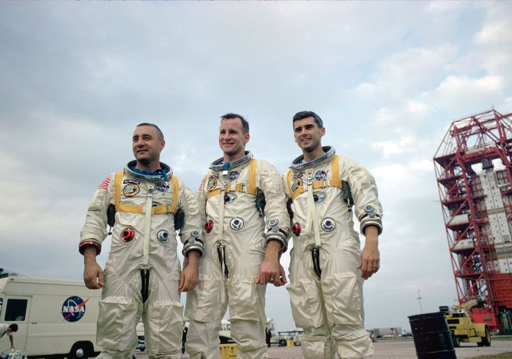 """Never forget <3 Apollo 1 Jan 17, 1967, died in a cabin fire during tests, Command Pilot Virgil """"Gus"""" Grissom, Senior Pilot Edward H. White, Pilot Roger B. Chaffee."""
