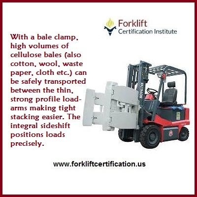 What does a BALE CLAMP do? #forklift #forklifttraining #forkliftcertification