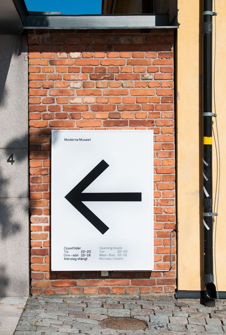 Signage at Moderna Museet by Stockholm Design Lab. Click for source and visit the slowottawa.ca boards >> http://www.pinterest.com/slowottawa/