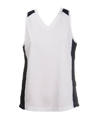 OC LADIES BASKETBALL JERSEY  • 160gm 100% kool-dri polyester  • Hi tech moisture-removal mini-waffle knit  • 2 dimensional contrasting colours with wide body panels