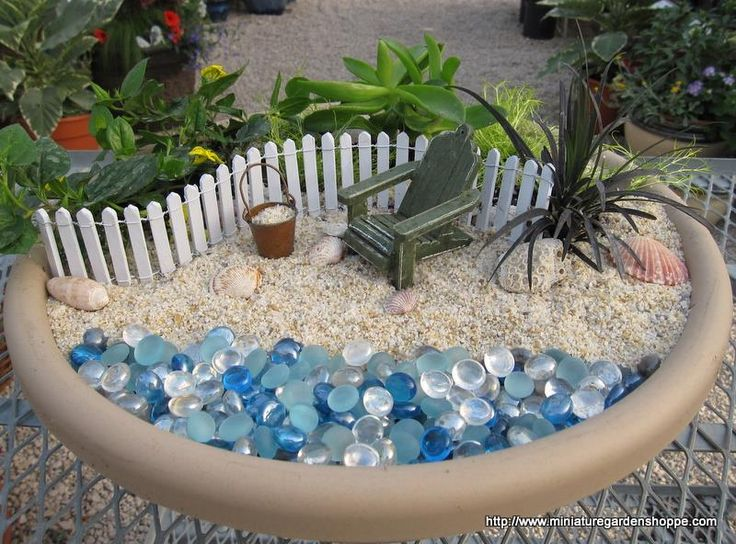 miniature beach playscape / small world play