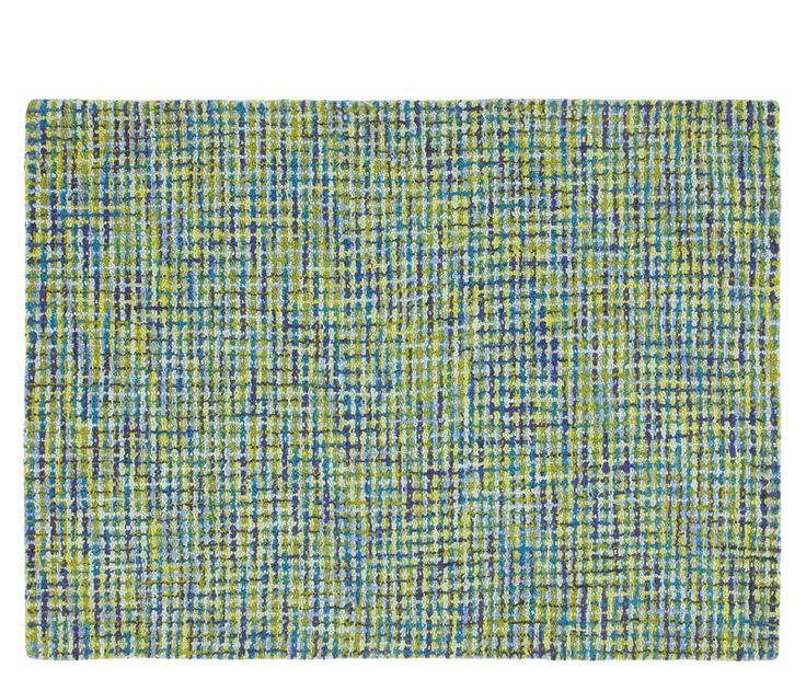 Tweedy Blue Rug - 5'x8' - Reminiscent of the iconic tweed jacket made popular by Coco Chanel in the 1950s, the Tweedy is hooked with six shades of blue and green. Also stocked