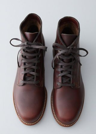 """<p>For a hike through the woods. Or, you know, a walk around the corner.</p> <p><em>100 Mile lace-up boots ($340) by Wolverine, <a href=""""http://www.stevenalan.com/1000-Mile-Lace-Up-Boot/VEN_ALL_NA_VA-W05299,default,pd.html?dwvar_VEN__ALL__NA__VA-W05299_color=RUST#cgid=mens-shoes-and-accessories-shoes&start=0&hitcount=27"""">stevenalan.com</a></em></p>"""