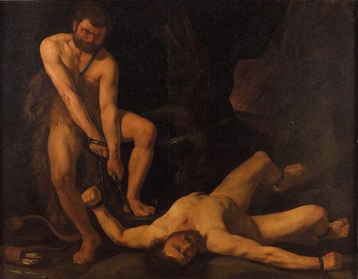 Peintre hollandais actif à Rome vers 1630, Hercule délivrant Prométhée, huile sur toile, 170 x 216 cm. Frais compris : 124 000 €. Jeudi 31 mars, salle 9 - Drouot-Richelieu. Vente collégiale. Lot présenté par la SVV Cortot-Vrégille-Bizouard. Cabinet Turquin.