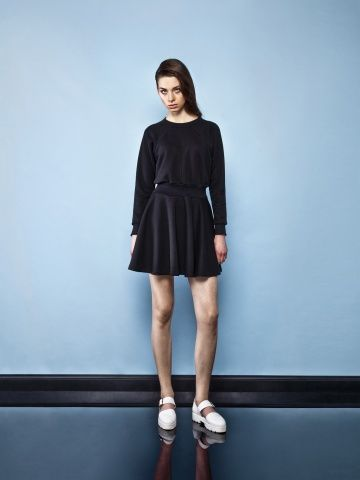 BLACK SPORTY DRESS Black dress Black classic dress