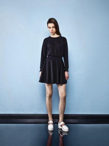 BLACK SPORTY DRESS Black dress Black classic dress
