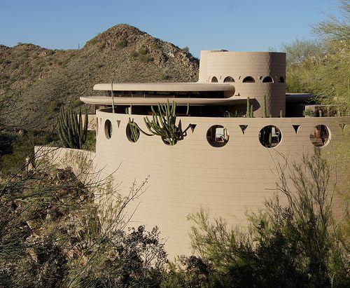 Norman Lykes House. 1966. Phoenix, Arizona. Frank Lloyd Wright.