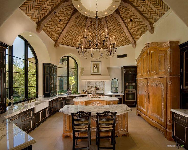 Средиземноморский стиль в интерьере кухни. Испанский дизайн. Купол