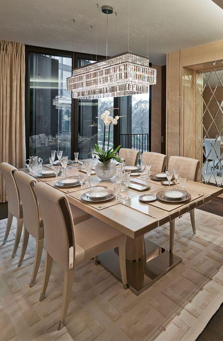 Elegant Beige Farbe: Dekoration Von Umgebungen Mit 60 Unglaublichen Projekten |  Arquitectura, Diseño, Interiores | Esszimmer Ideen, Esszimmer Modern,  Esszimmer