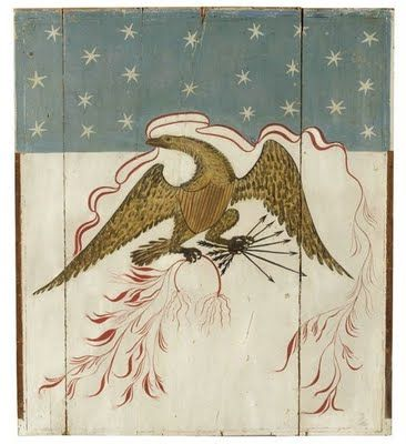 Antique Eagle over - mantle 1820..... not quilted, but I like the style