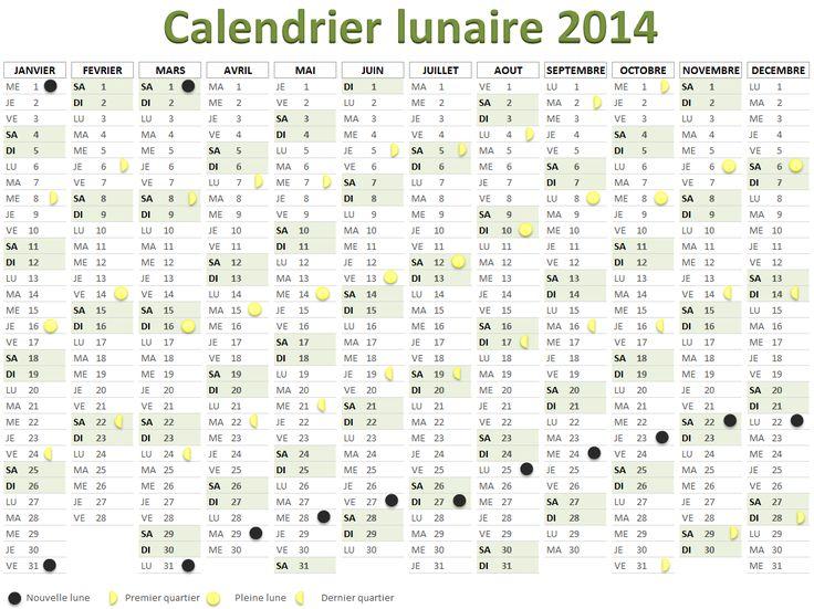 les 25 meilleures id es de la cat gorie calendrier lunaire 2014 sur pinterest nouvelle lune. Black Bedroom Furniture Sets. Home Design Ideas