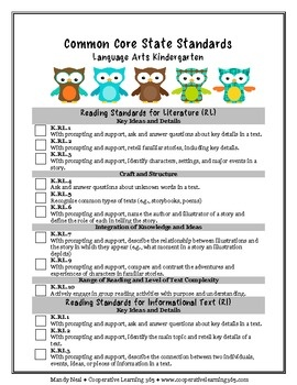 Language Arts and Math Checklist.Use this checklist to keep track of the Common Core State Standards