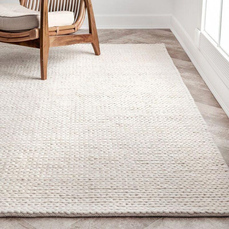 Langley Street Arviso HandWoven Wool White Area Rug