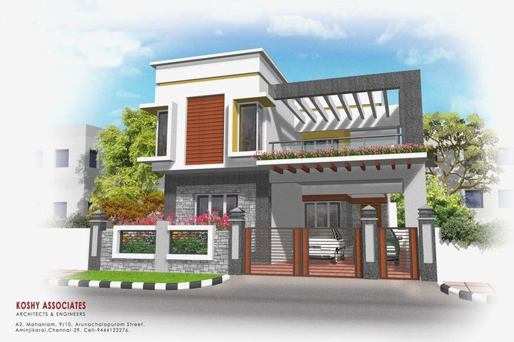 Front compound wall elevation design google for Simple house elevation models