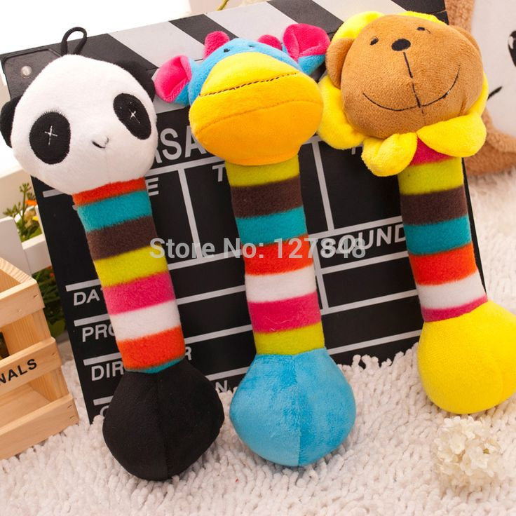 Cat toy rattles audible sound toys pet toys dog plush stuffed toys #Affiliate