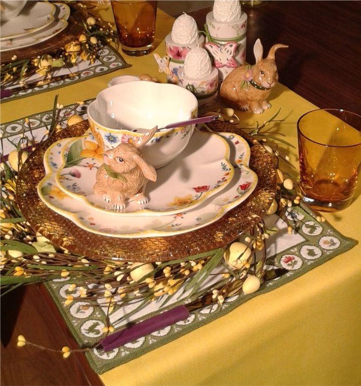 Apparecchiatura di una tavola pasquale con piatti Villeroy&Boch