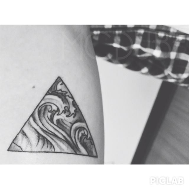 My new triangle waves tattoo #triangle #wave