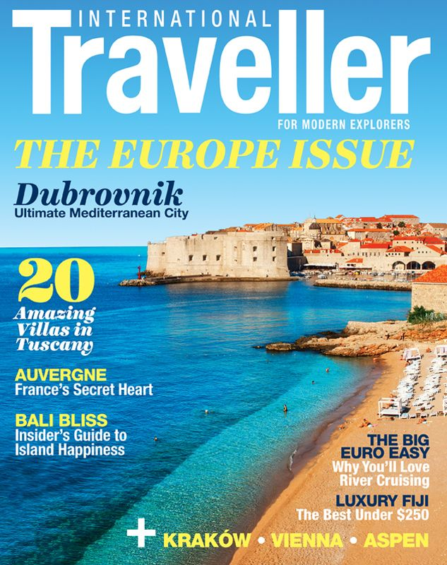 Issue 3 of International Traveller magazine, featuring Dubrovnik, the ultimate Mediterranean city