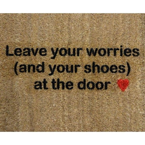 HERE you can find a very nice tutorial on how to create your very own personalized door mats.