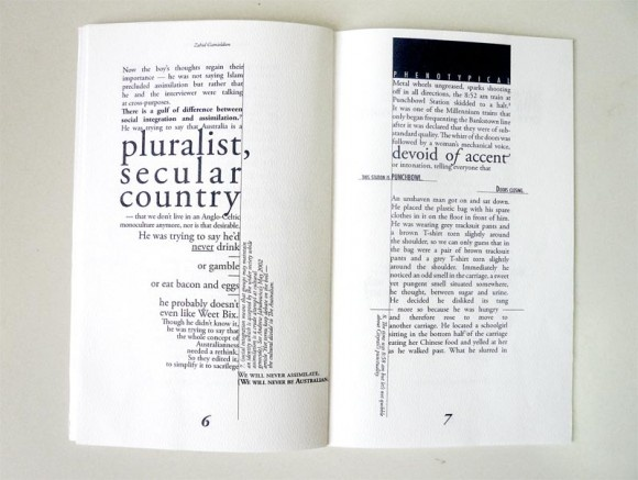 'Looking into a Beechwood Shack' Publication / typography, graphic design, zine and print // Kim Nguyen