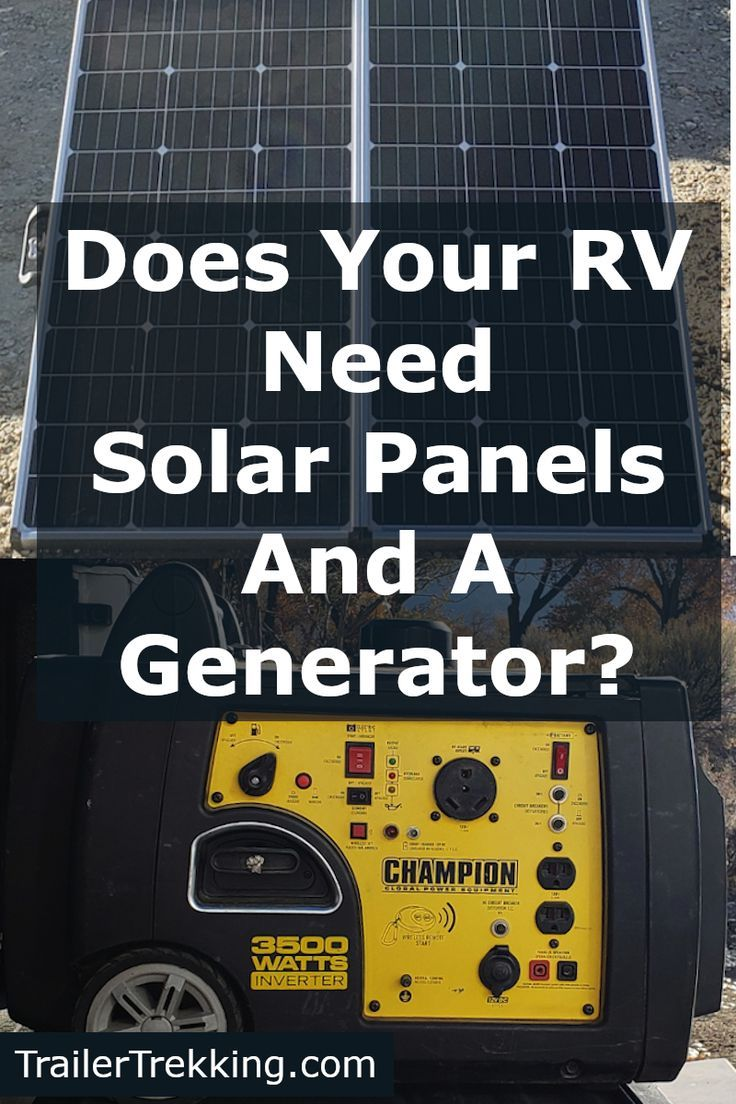 Rv S Get Power From Solar Panels Or A Generator One Way Or The Other Rvs Need Power And Their Batteries Won T Last Long Without R Rv Solar Solar Panels Solar