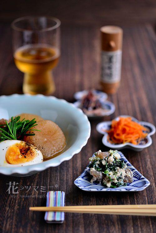 牛スジ大根 - stew of Cow linear meat and mixed Japanese radish