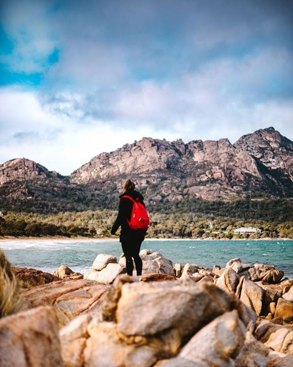 Exploring the rocks along the waters edge at Freycinet National Park. Image sent in by Andrew Coles https://instagram.com/p/BZaJoyHH5hJ/