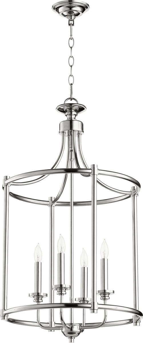0-007620>Rossington 4-light Entry Foyer Hall Chandelier Polished Nickel