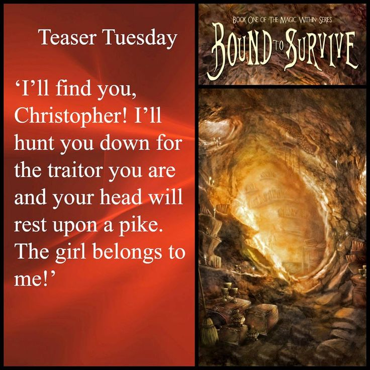 Bound to Survive #TeaserTue My rating 4.5 of 5 stars! http://www.amazon.com/dp/B00S6FAU6A http://www.amazon.co.uk/Bound-Survive-Magic-Within-Book-ebook/dp/B00S6FAU6A http://www.amazon.com.au/Bound-Survive-Magic-Within-Book-ebook/dp/B00S6FAU6A