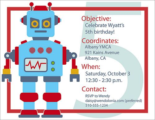 69 best images about Robot Party – Robot Party Invitations