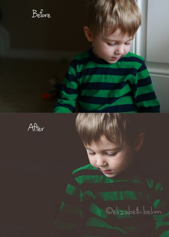 Dramatic edit tutorial: before and after
