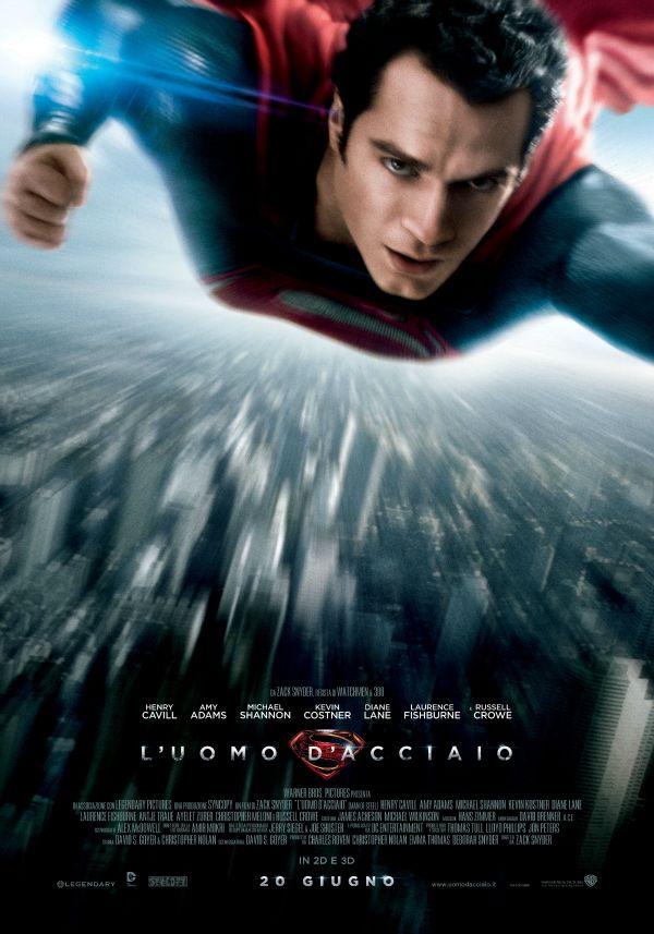 L'Uomo d'Acciaio, dal 20 giugno al cinema.