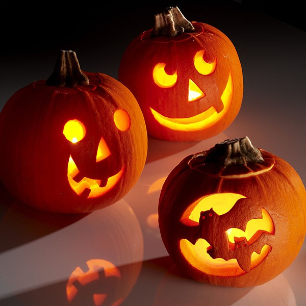 Carved Pumpkins - downloadable templates #halloween