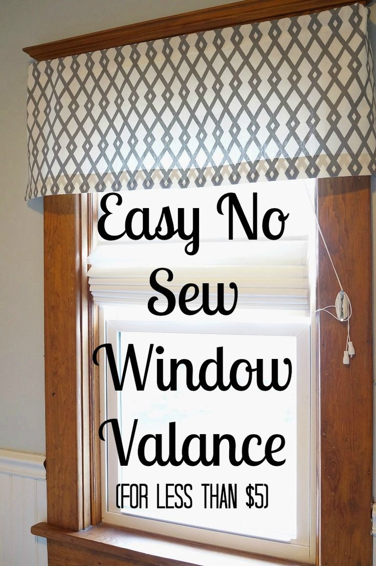 DIY No Sew Window Valance for less than $5!! Super easy  anyone can make one!