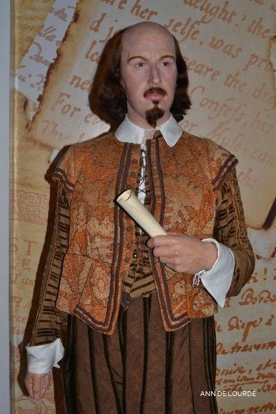 William Shakespeare, Summer 2013, Madame Tussauds London.