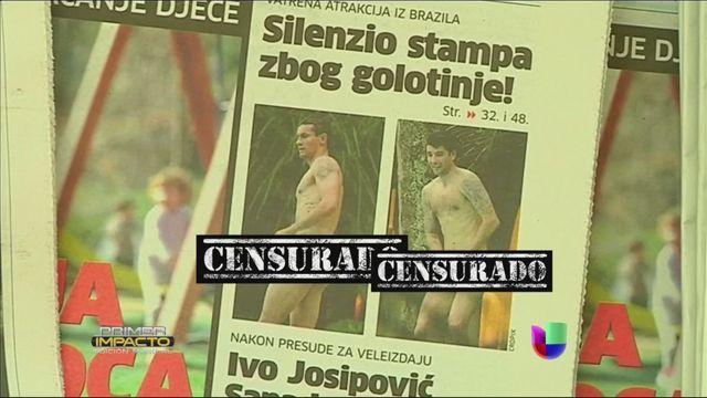 Los jugadores de Croacia fueron descubiertos al desnudo