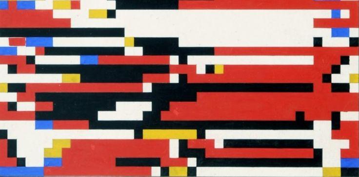 Bij de eerste digitale kunst met mainframe computers (anno 1964) werden de Japanse programmeur/ontwerper Hiroshi Kawano geïnspireerd door Mondriaan.