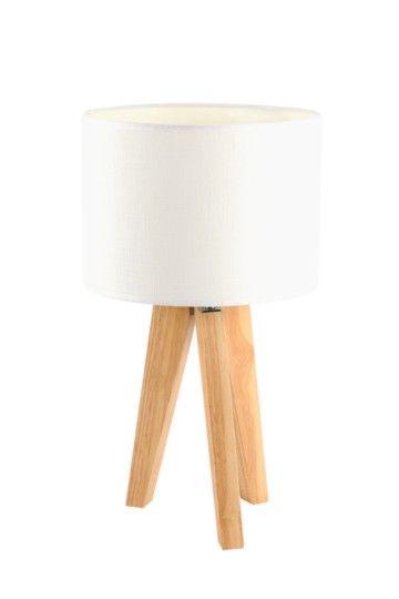 Wooden Tripod Table Lamp Set