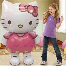 "Hello Kitty Helium Foil Balloon 46"" BIG HUGE GIANT 114cmX70cm kids Party Gift"