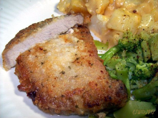 My fried pork chop recipe :) I came up with this after trying many recipes And not really finding the flavor I wanted for my pork chops. I will sometimes skip soaking as I dont always have time.