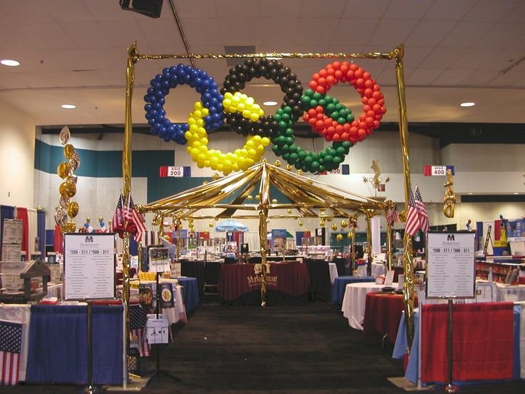 Olympic party balloon decorating | BALLOON OLYMPIC RINGS