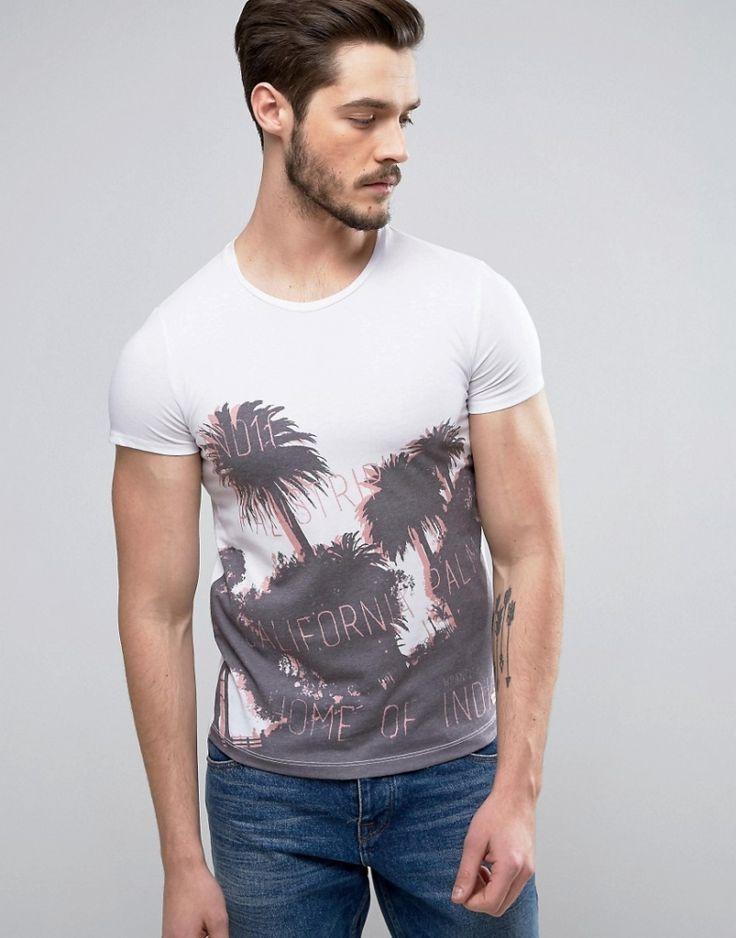 #Herren Wrangler – Heimat des Indigo-T-Shirts – Weiß, Gr. , 5400516686784