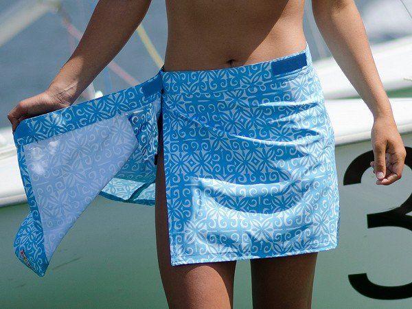 wikkelrok uit badstof voor over bikini of badpak