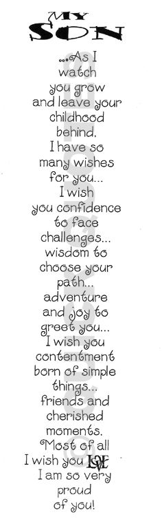 To my 17 year old, who is graduating this year 2013 <3