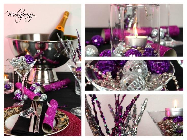 Pink Schwarz Gold Silvester Deko - Wohnprinz